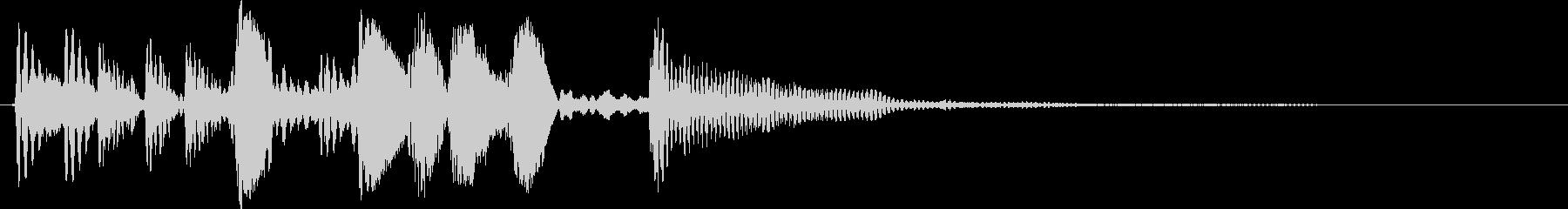 軽快で大人っぽいジングル、ウッドベースの未再生の波形