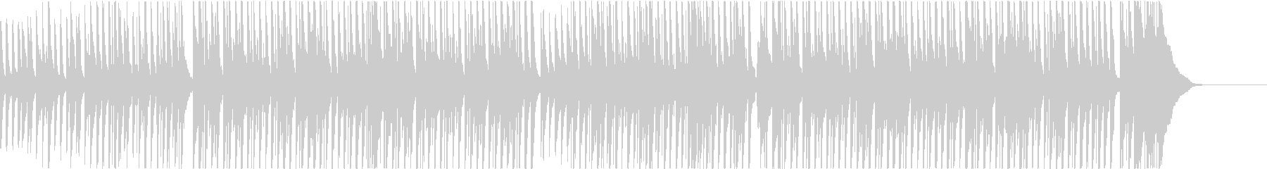 鉄琴とピアノの元気で明るいポップスの未再生の波形