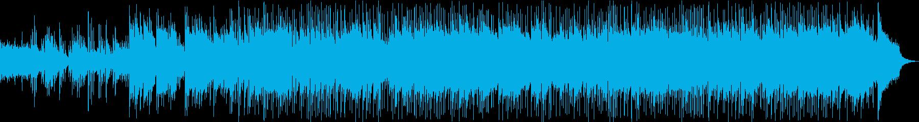 リラックスできるピアノメインのBGMの再生済みの波形