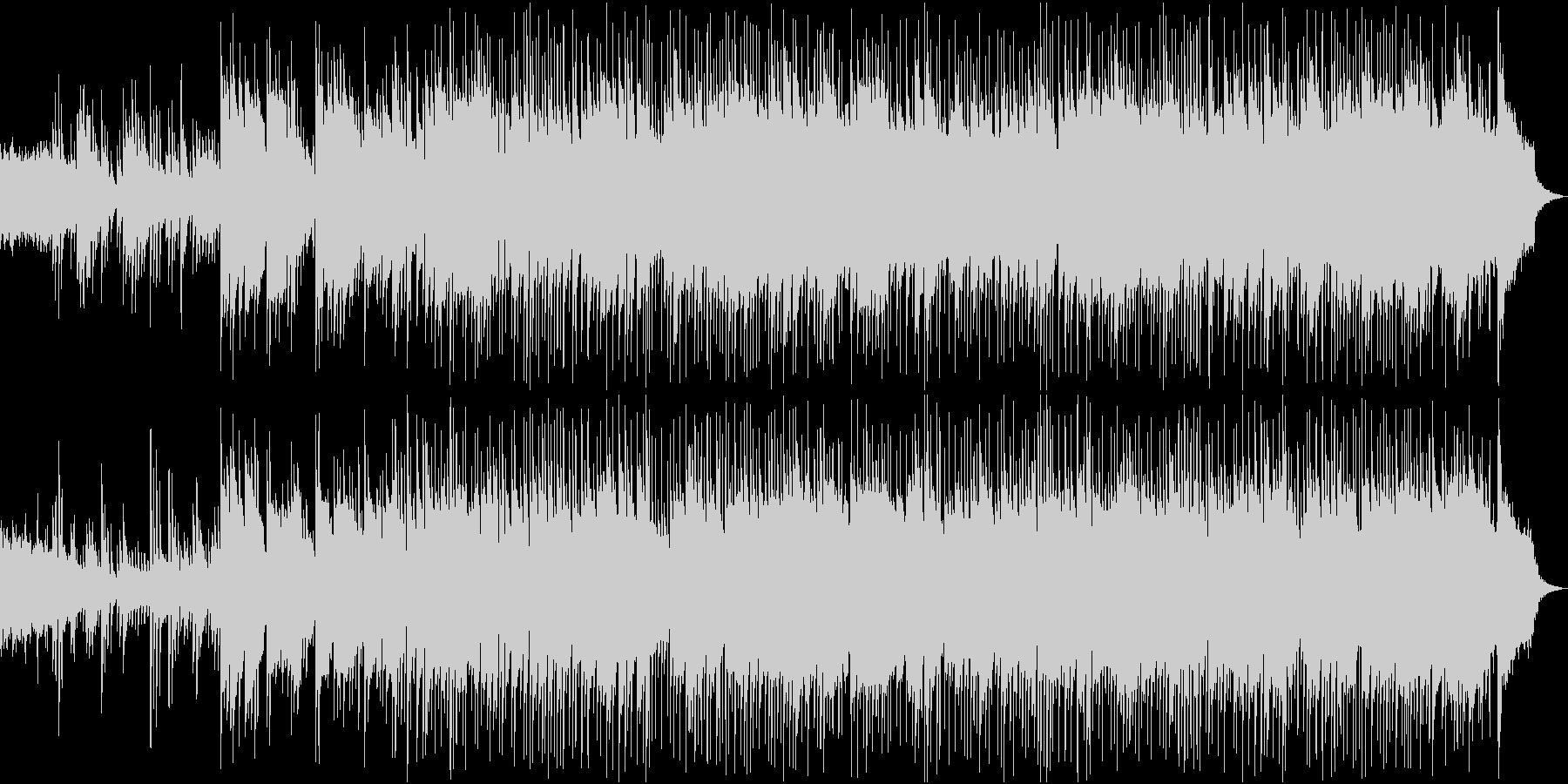 リラックスできるピアノメインのBGMの未再生の波形
