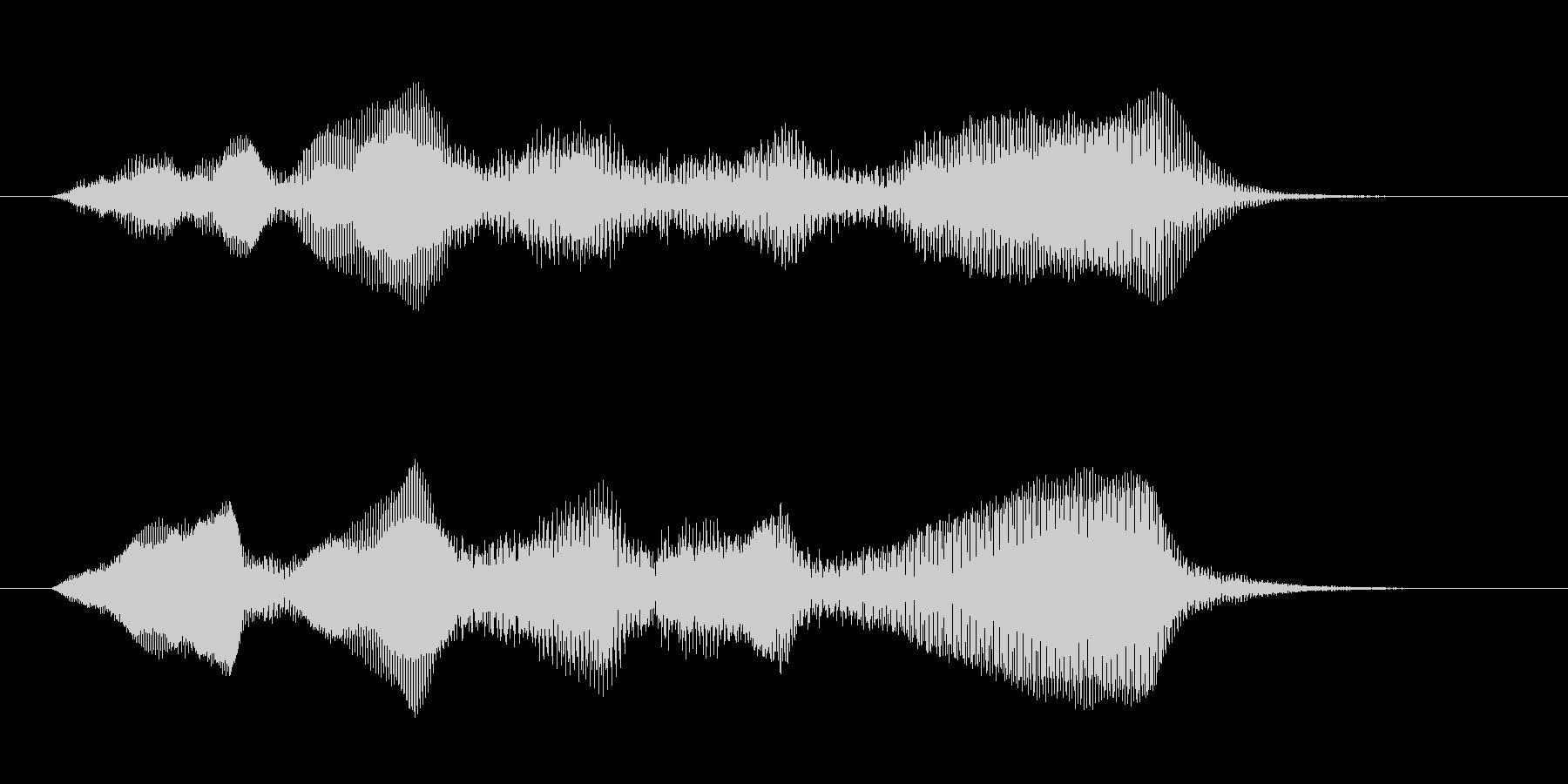 ダークなコントラバスの重々しいジングルの未再生の波形