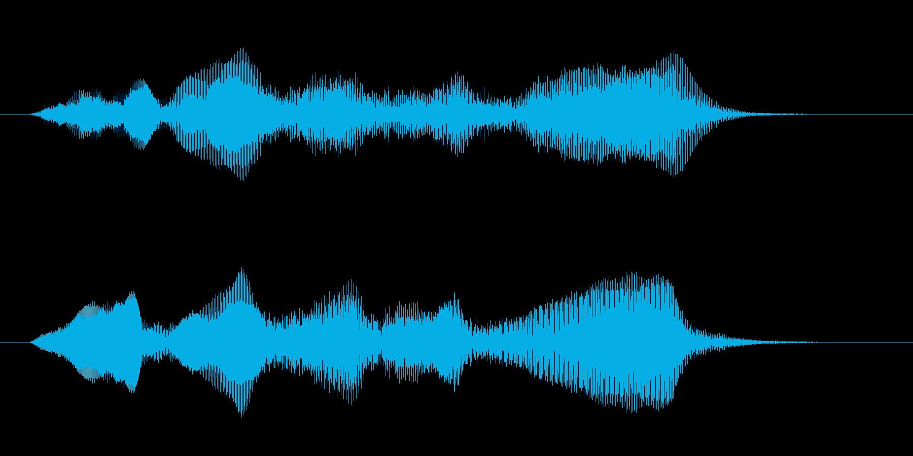 ダークなコントラバスの重々しいジングルの再生済みの波形