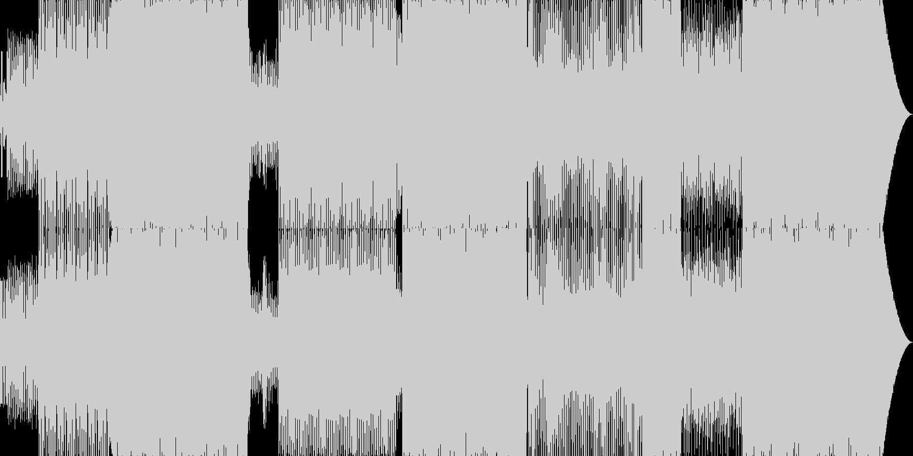グルービーなEDMの未再生の波形