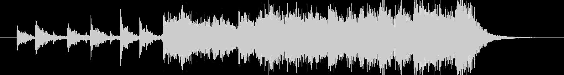 ビックバンドアレンジオープニングジングルの未再生の波形
