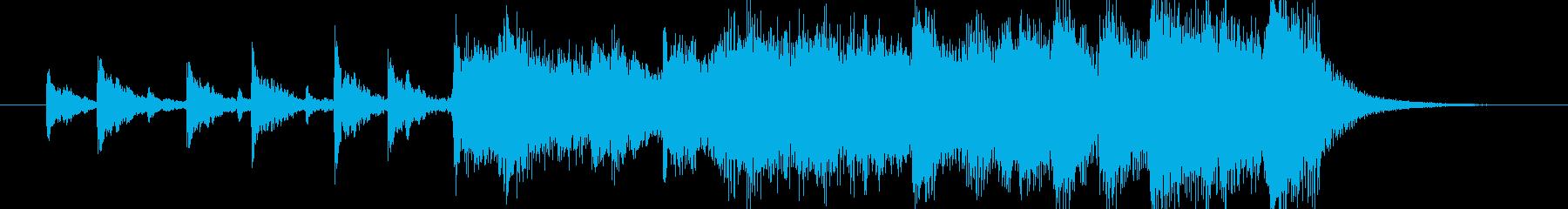 ビックバンドアレンジオープニングジングルの再生済みの波形