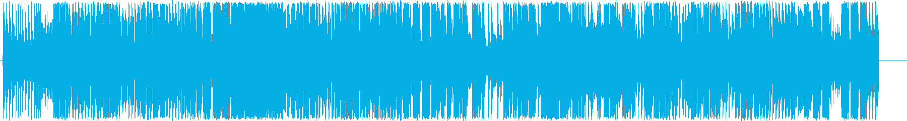 元気のあるポップなエレキギターの音の再生済みの波形