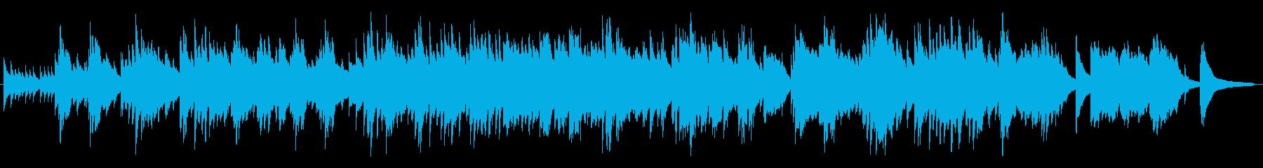 優しいメロディが印象的なピアノBGMの再生済みの波形