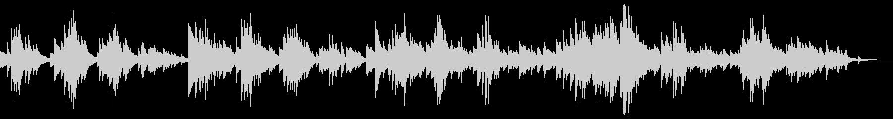 悲劇的な裏切りのピアノ曲(暗い、切ない)の未再生の波形