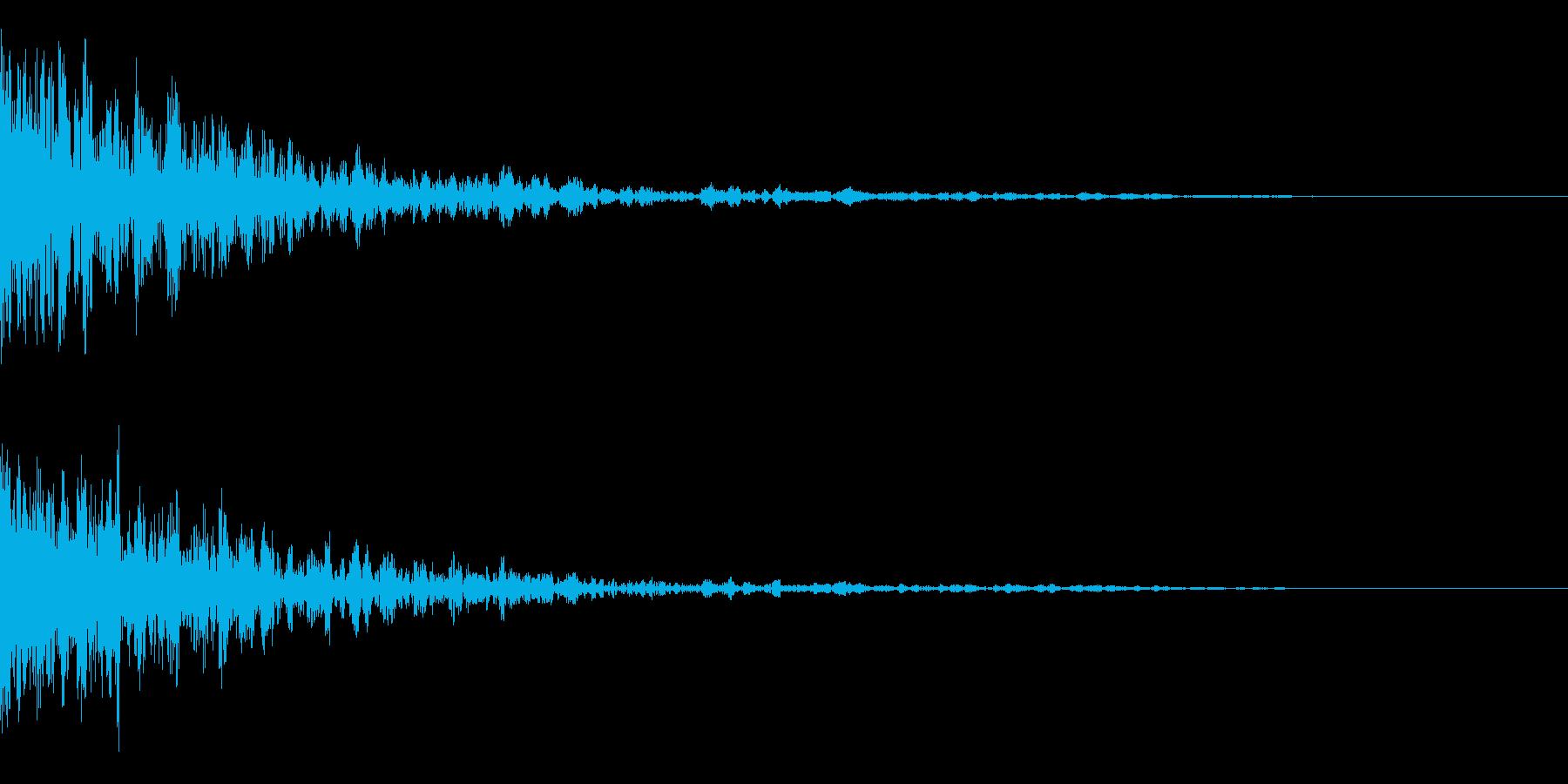 映画に合う効果音07の再生済みの波形