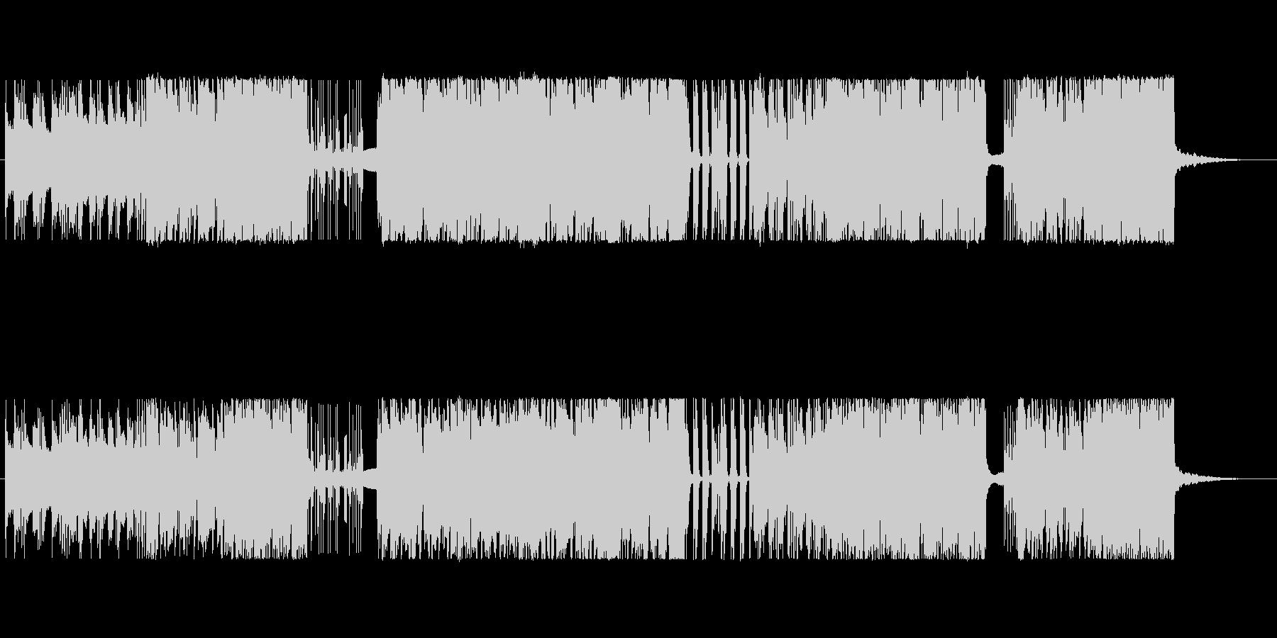 生ギターによるノリのいいリフものロックの未再生の波形