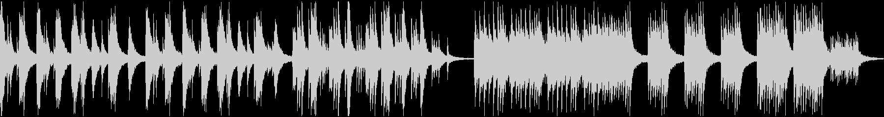 静かな和風ピアノソロ・ループの未再生の波形