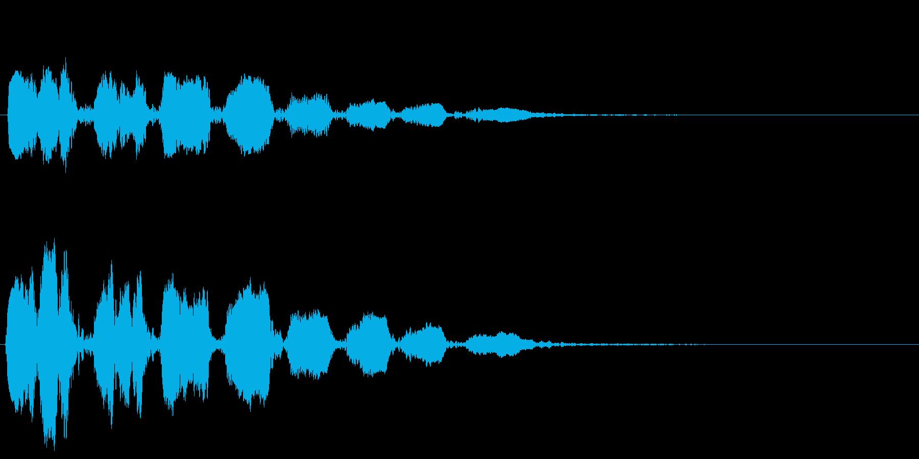 おばけ ひゅうひゅうひゅうひゅうの再生済みの波形