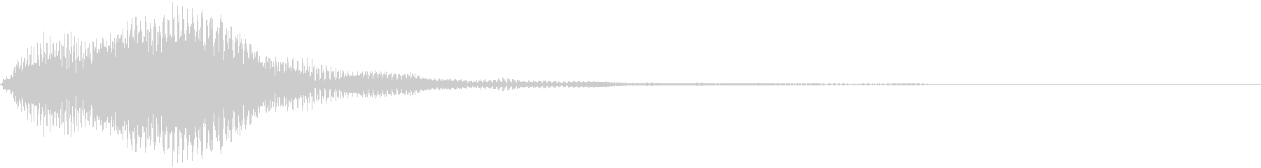 アプリ・タッチ・キャンセル音9の未再生の波形
