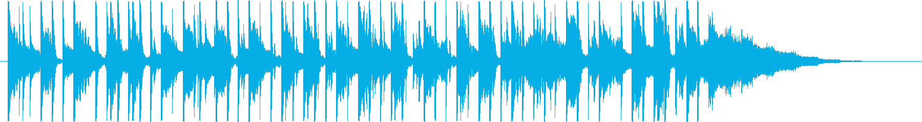 電気楽器。ロボットと機械の短い合図...の再生済みの波形