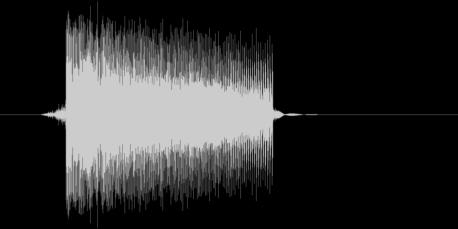 ゲーム(ファミコン風)レーザー音_028の未再生の波形