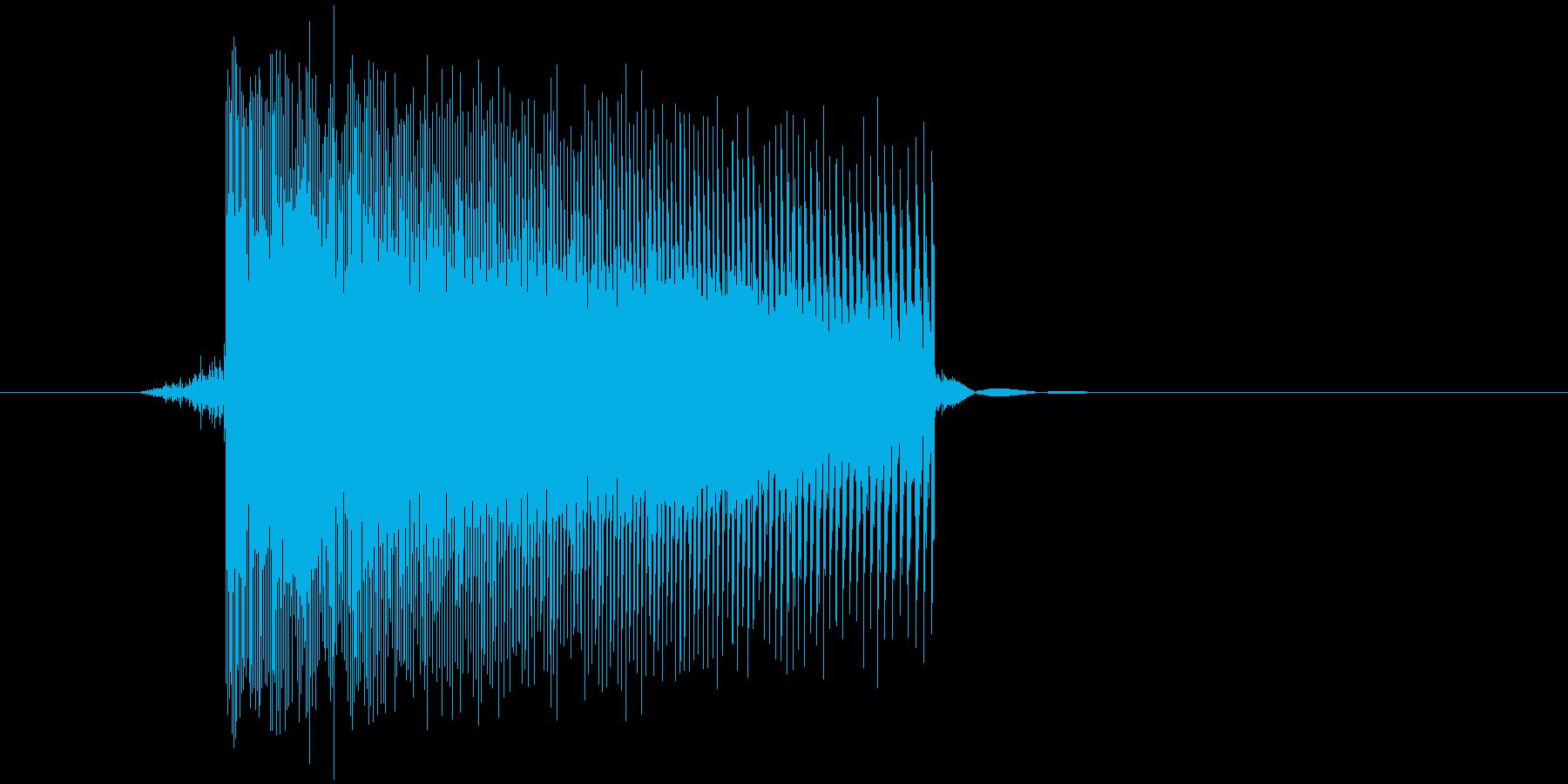 ゲーム(ファミコン風)レーザー音_028の再生済みの波形