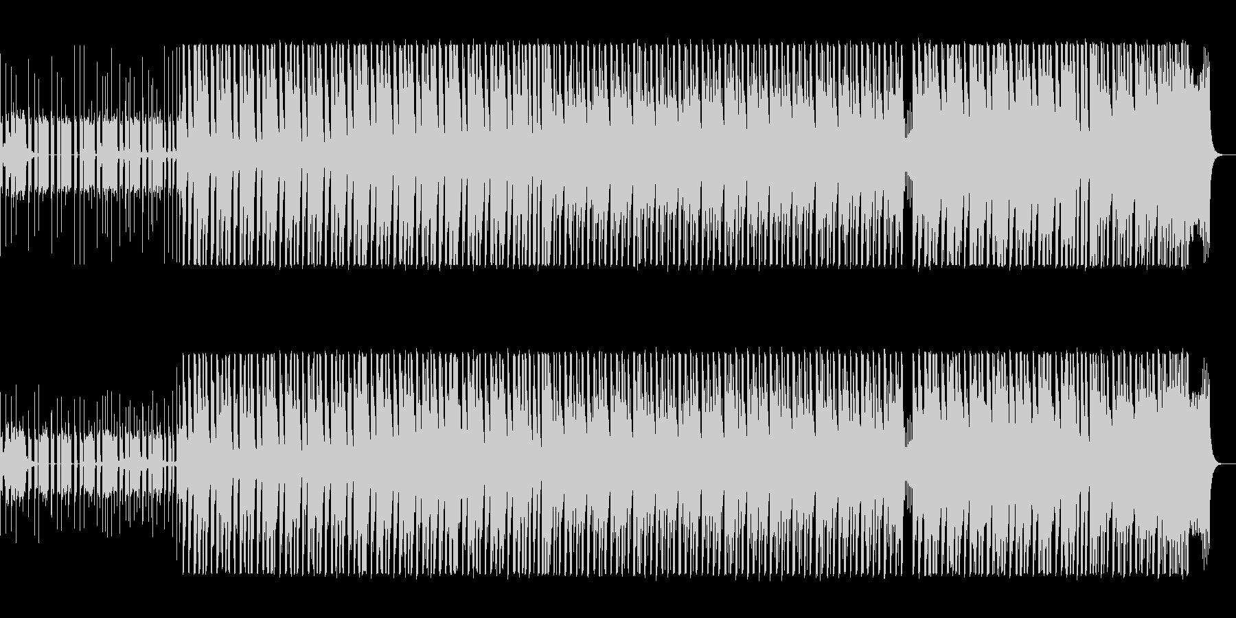 軽やかなエレクトロポップスの未再生の波形