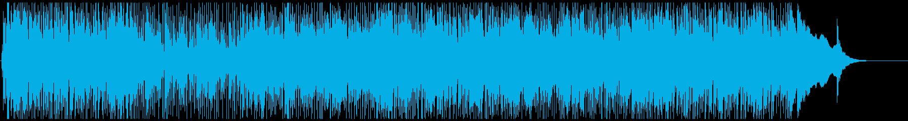 ドライブしている雰囲気のロックインストの再生済みの波形