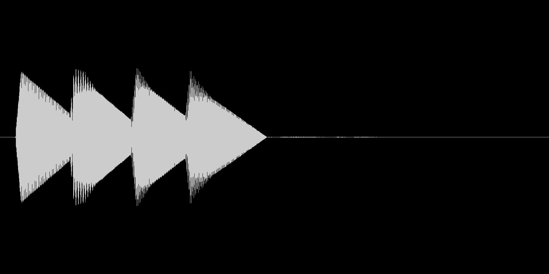 8bitのシステム音ピロロロン↑高音の未再生の波形