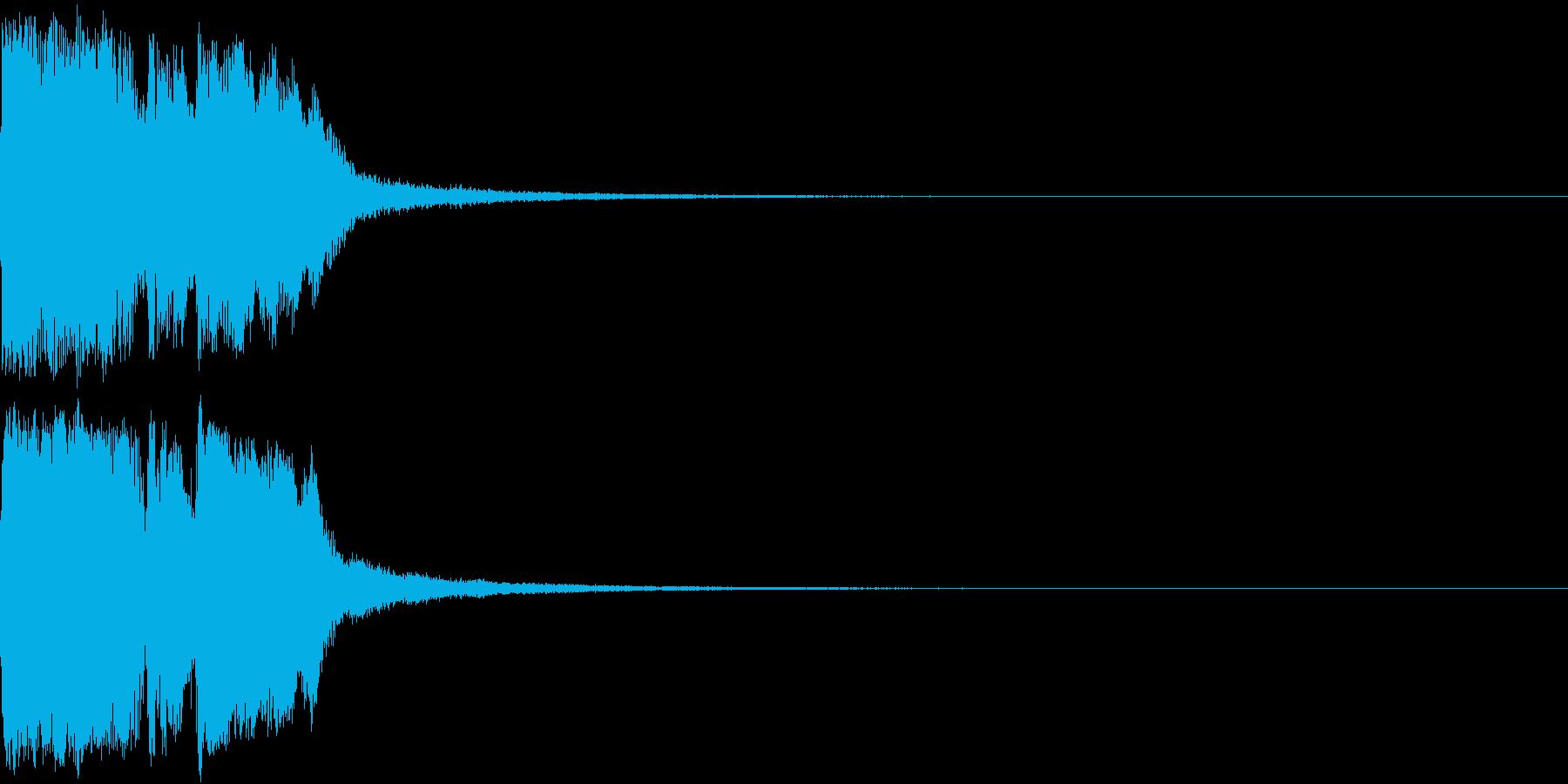 ファンファーレ 当たり 正解 合格 08の再生済みの波形