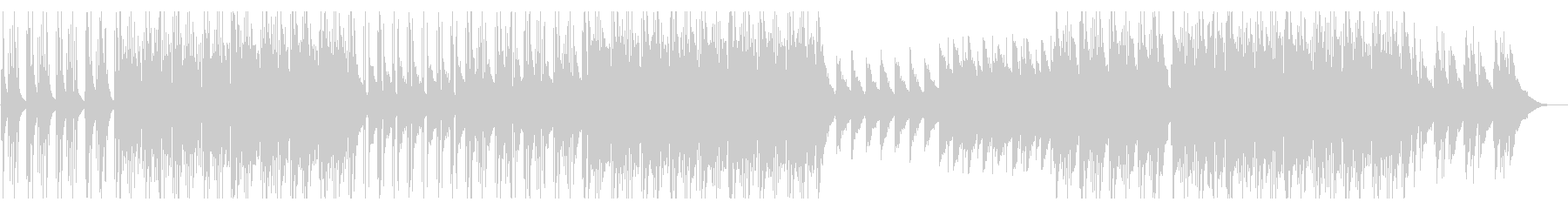 ピアノ主体の悲しげなインストの未再生の波形