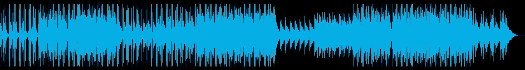 ピアノ主体の悲しげなインストの再生済みの波形