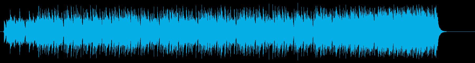 スパニッシュギターのマイナー風ポップの再生済みの波形