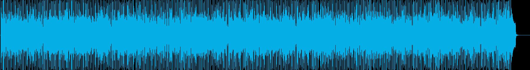 爽やかで軽快な明るいフュージョンの再生済みの波形