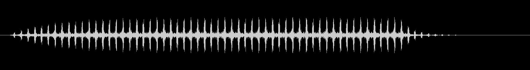 ヘリコプターの飛行音【バッバッバッバッ】の未再生の波形