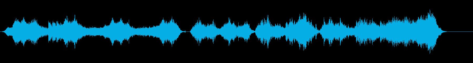 事件性の高い怖い曲ですの再生済みの波形