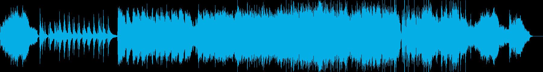 壮大で感動的なストリングスによるBGMの再生済みの波形