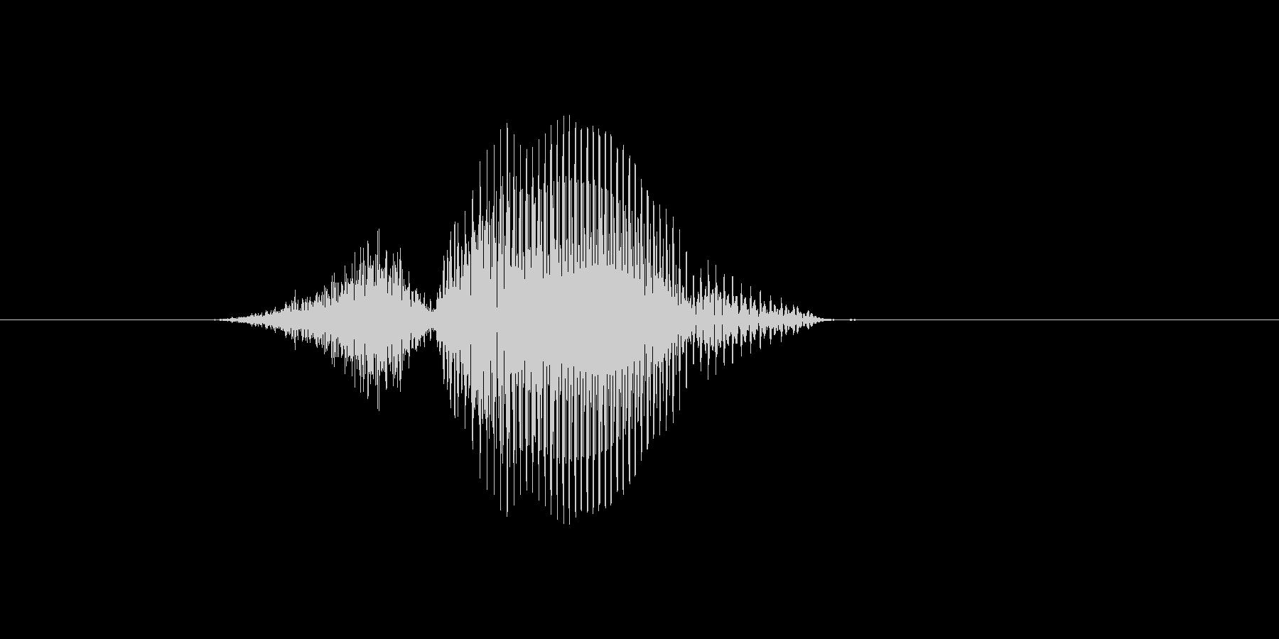 3(数字、男の子、少年)の未再生の波形