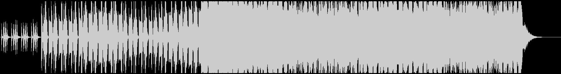 全体的に暗いイメージの未再生の波形