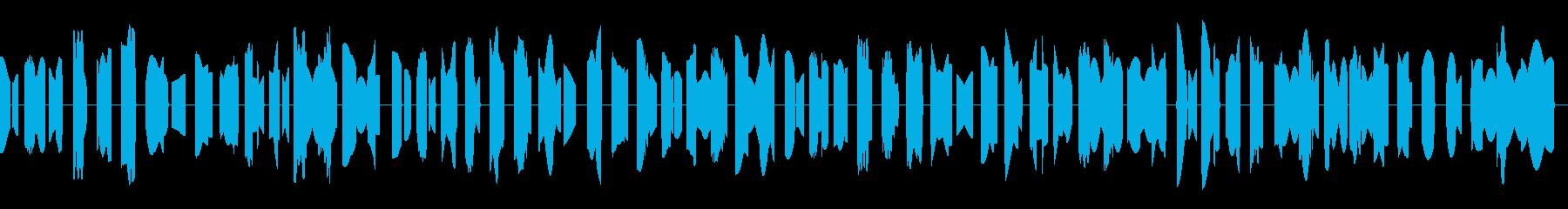 古いゲームのBGMの再生済みの波形