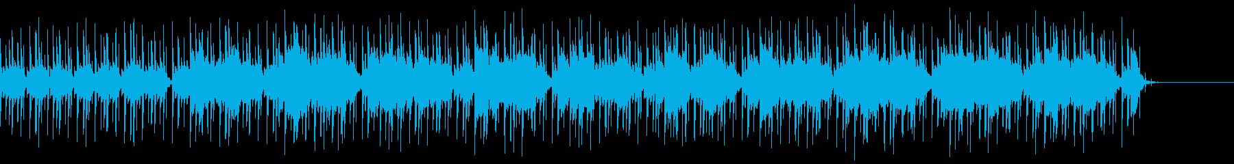 エレピとハープのヒップホップトラックの再生済みの波形