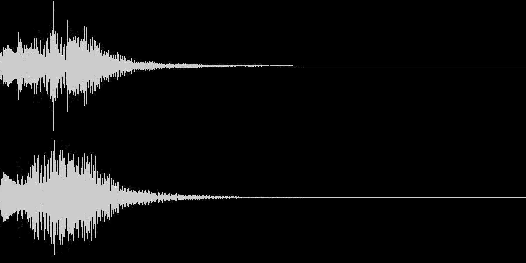アクション音(ハープ)の未再生の波形