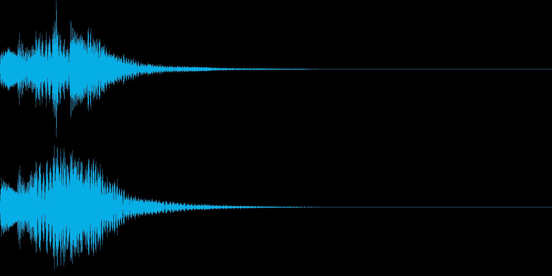 アクション音(ハープ)の再生済みの波形