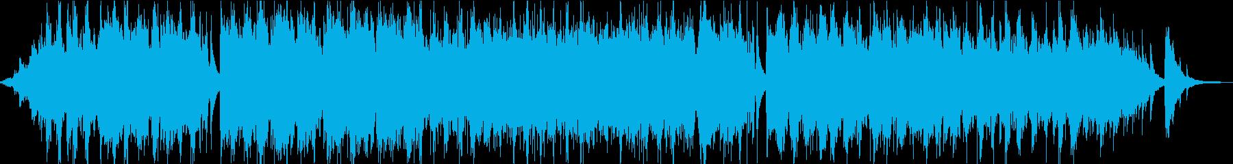 幻想的なアコギのアンビエントの再生済みの波形