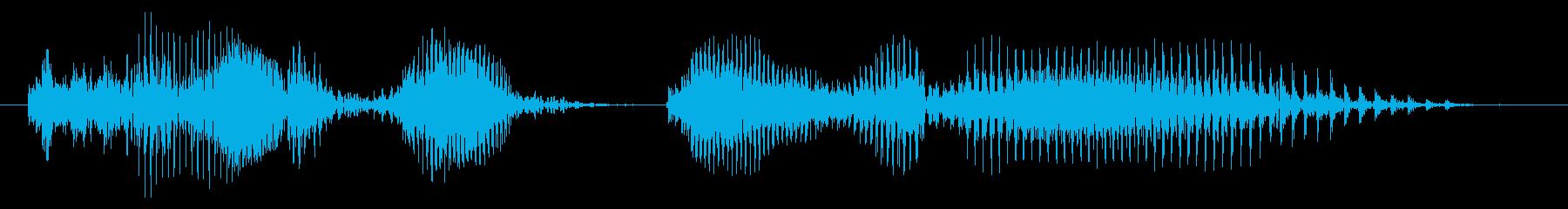 かかってきなの再生済みの波形