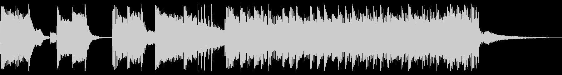 パンキッシュなロックジングル02の未再生の波形