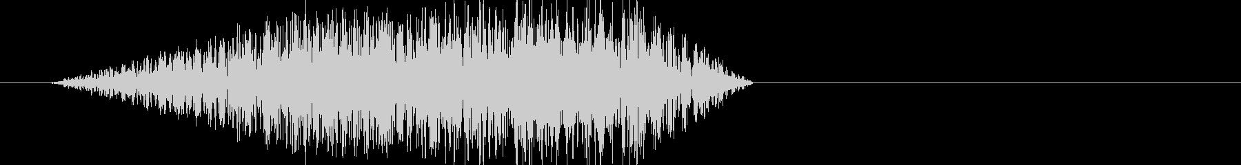 ブラッシュアップされたホワイトノイズ音の未再生の波形