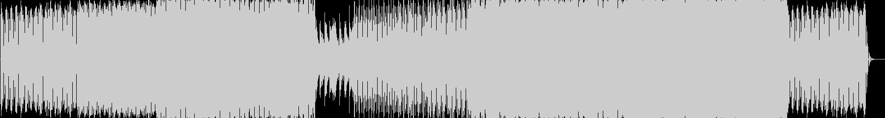明るいエレクトロニカミュージックの未再生の波形