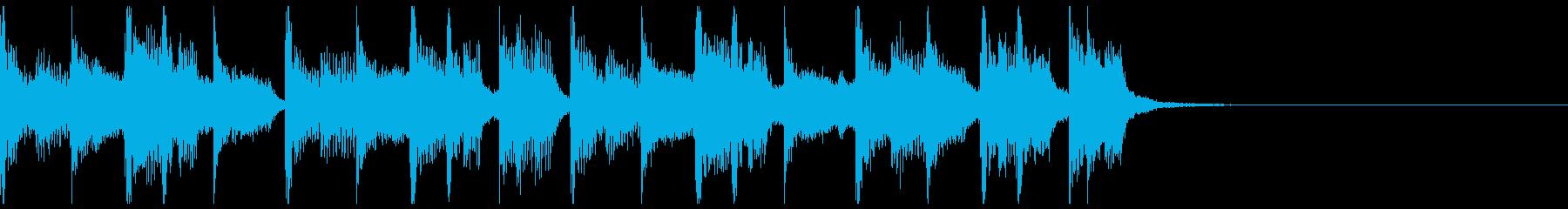 【ジングル】シックでコミカルなBGMの再生済みの波形