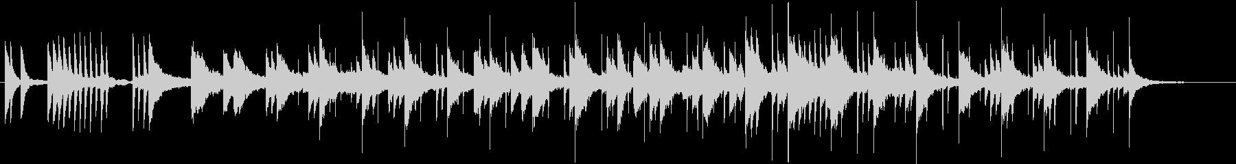 チル、和音階、シンセとピアノのバラードの未再生の波形