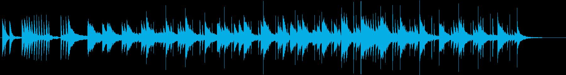 チル、和音階、シンセとピアノのバラードの再生済みの波形