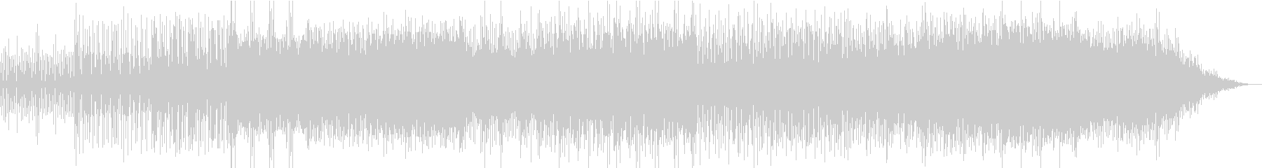 Downtempo Techno Popの未再生の波形