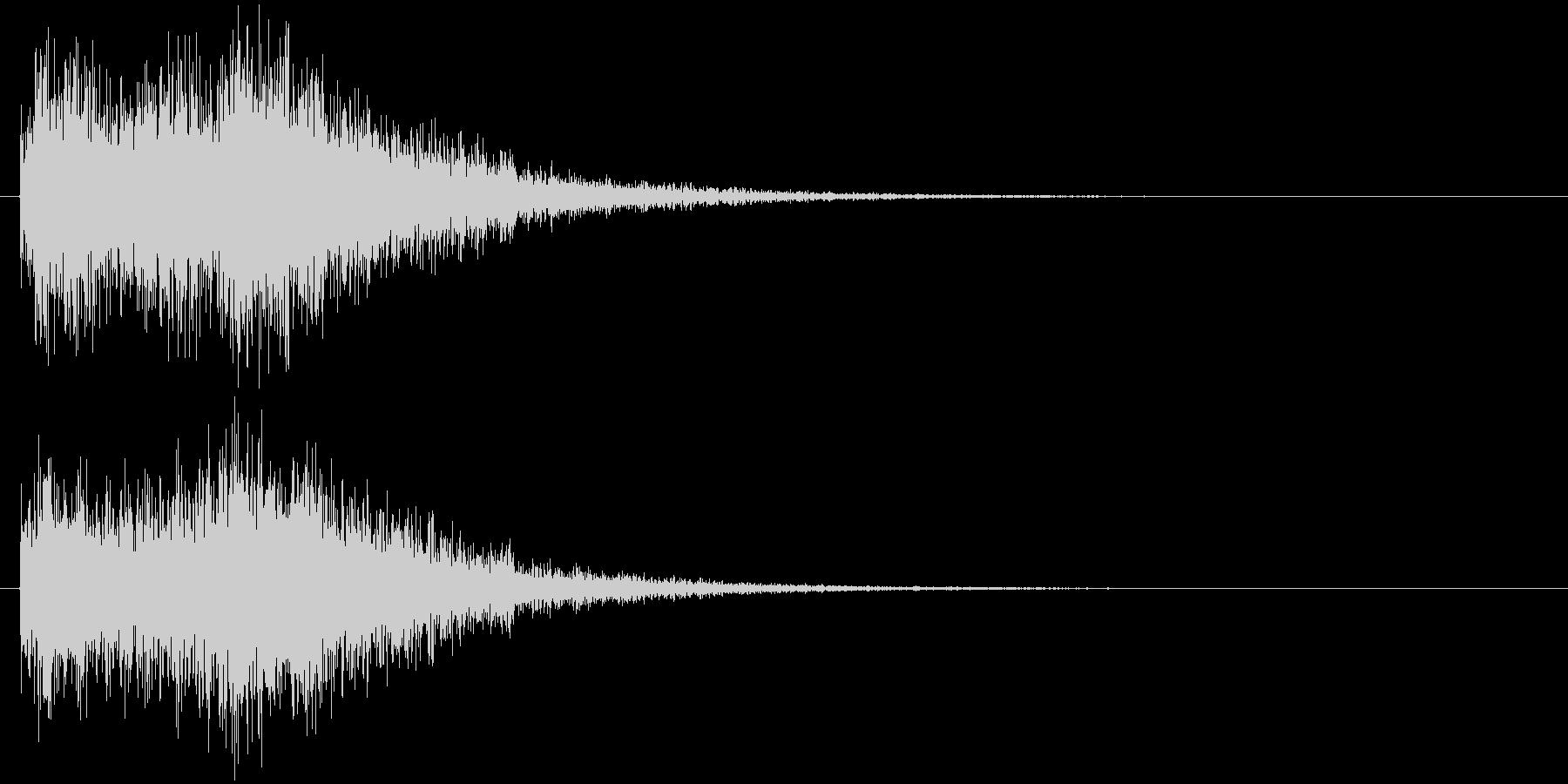 クイズ出題音(ジャカジャン!)の未再生の波形