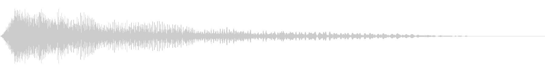 機能停止・シャットダウン・インパクト音の未再生の波形