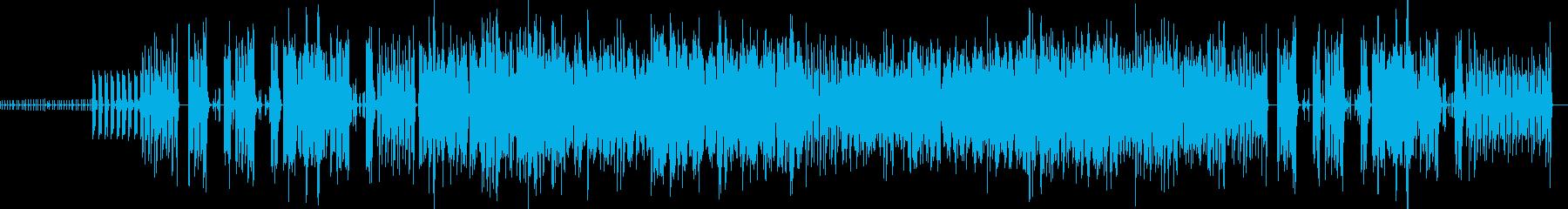 ピアノとビブラホーンの陽気なラテンジャズの再生済みの波形