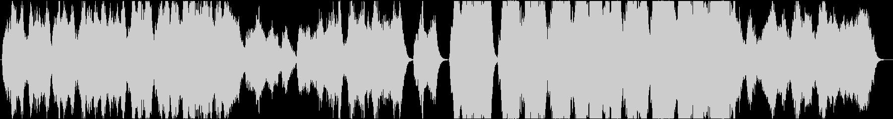 ストリングスによる壮大な和風曲の未再生の波形